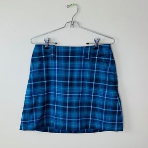 Womens Nike Dri Fit Blue Plaid Tennis Skirt Size 4
